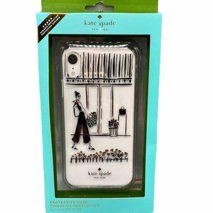 NW Kate Spade iPhone XR Case Window Shopping Scene
